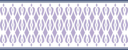 Elegant decorative border made up of blue colors
