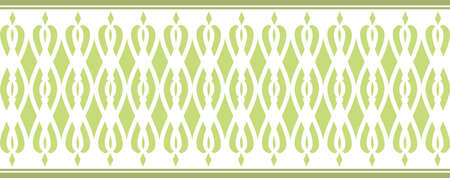 Elegant decorative border made up of Several green colors 2 Vectores