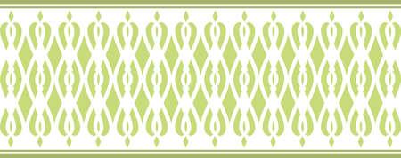 borde decorativo elegante compone de varios colores verdes 2