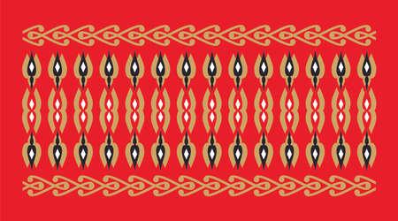 frontera elegante y decorativo de inspiración hindú y árabe de varios colores, fondo dorado, negro y blanco y rojo