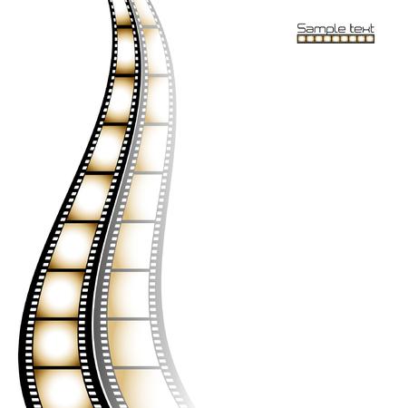 Fondo de tira de película con lugar para el texto.  Ilustración de vector