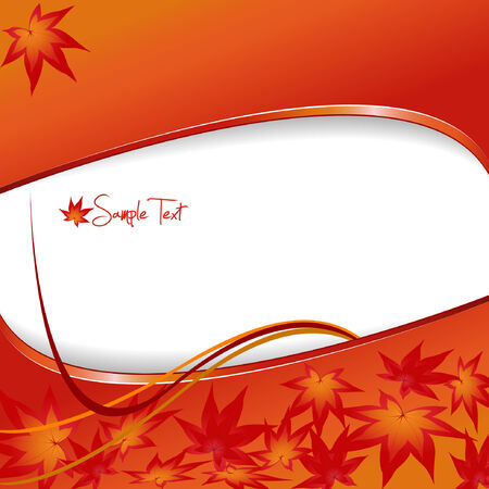 Modern autumn background with leafs. Vector