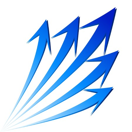 flecha azul: Aislado crecer stat gr�fico financiera de flechas.  Vectores
