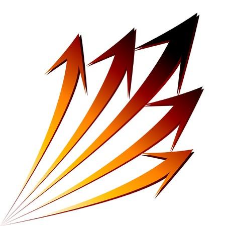 financial leadership: Aislado crecer stat gr�fico financiera de flechas.  Vectores