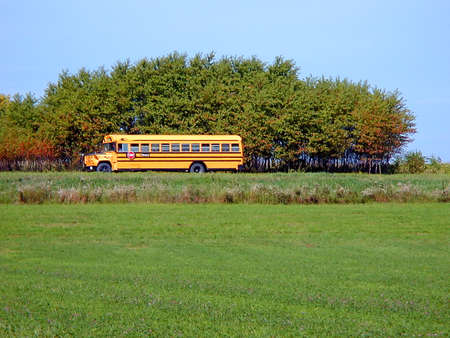 School bus on a country road