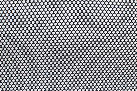 fishnet: Circle black net on white background. Stock Photo