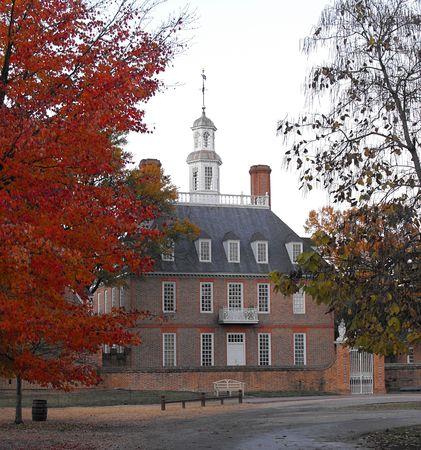 house gables: Gobernadores Hist�rico mansi�n colonial de Williamsburg