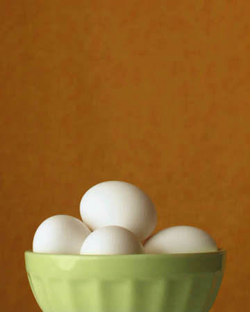 Bowl of eggs for Easter decorating or breakfast.