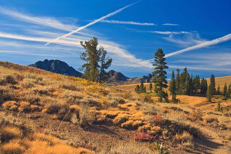pacific crest trail: Carson Pass, Pacific Crest Trail Stock Photo
