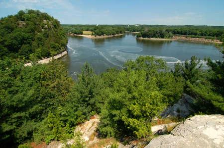 overlook: River Overlook Stock Photo