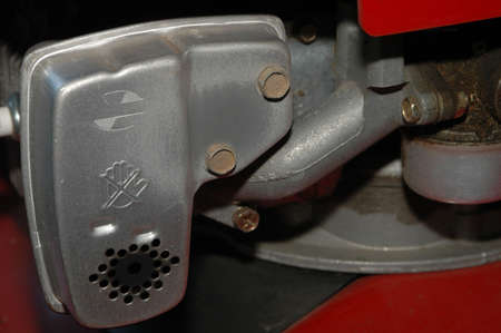 Lawnmower Engine with Muffler
