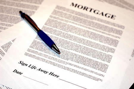 Mortgage Documents with Pen