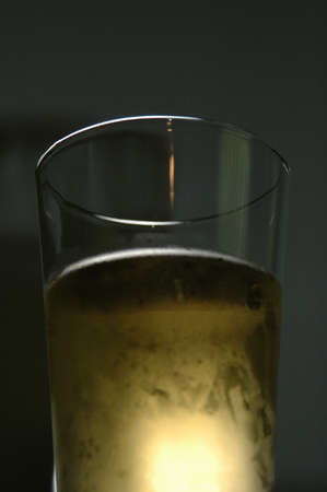 Beer in Pint Glass, Low Angle and Backlit Stock Photo - 227401