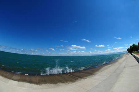 Lakefront Fisheye photo