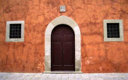 idealistic: Door and Windows in Tuscany Stock Photo