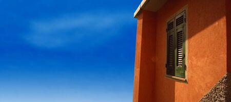 Italian Riviera Villa with blue sky Stock fotó