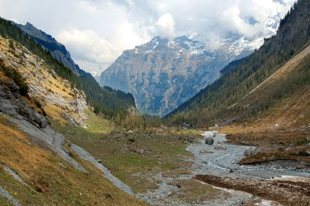 A valley in the alps of central Switzerland. Stock Photo - 945355