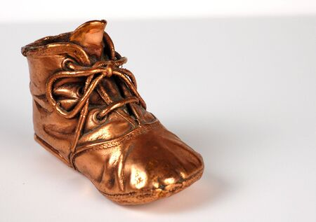 bronzed: Bronzed  shoe from the early 1900s.