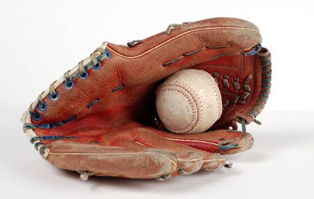 A players old baseball gear. photo