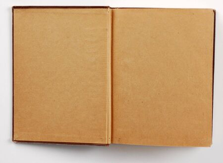 a blank page open in an old book. Stock Photo - 965634