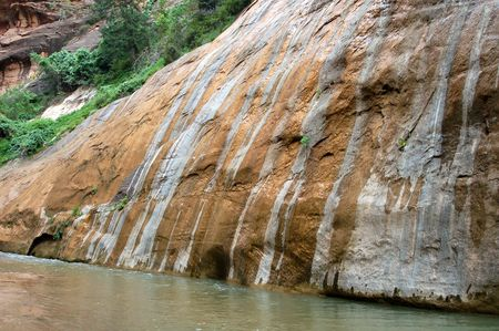 A river runs through the sandstone red rock country in the southwest USA. Stock Photo - 1290514