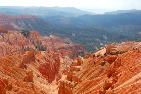 overlook: An overlook above the sandstone red rock country in the southwest USA.