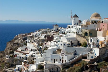 A beautiful scene from Oia on Greeces Santorini Island. photo