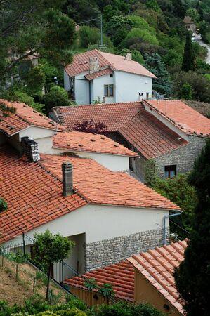 Een groep van vakantiehuizen in Toscane Italië. Stockfoto - 1319180