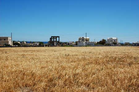 rural town: A windswept rural town near the Aegean Sea. Stock Photo