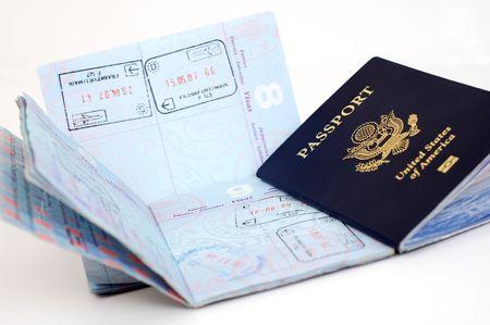 Three US passports.