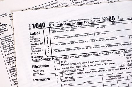 tax form: A US income tax form.