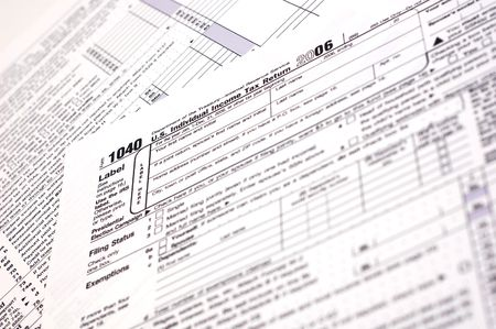 A US income tax form.