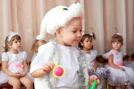 multi age: Russia, Iskitim, kindergarten Orlenok, desember 2014 year, children in kindergarten