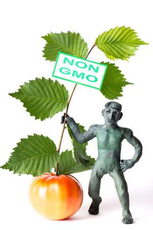 riesgo quimico: OMG concepto de peligro de la figura de un hombre con un cartel Foto de archivo
