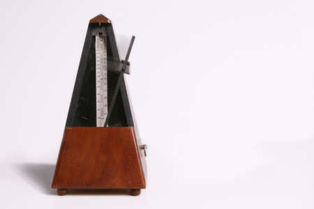 Metronome isolated on white background. photo