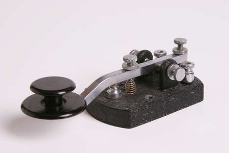 Morse Code Straight key with Navy knob.
