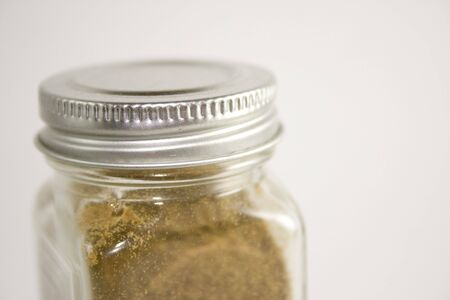 Glass Spice Jar Close Up photo