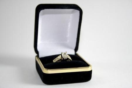 Wedding Ring in Box photo