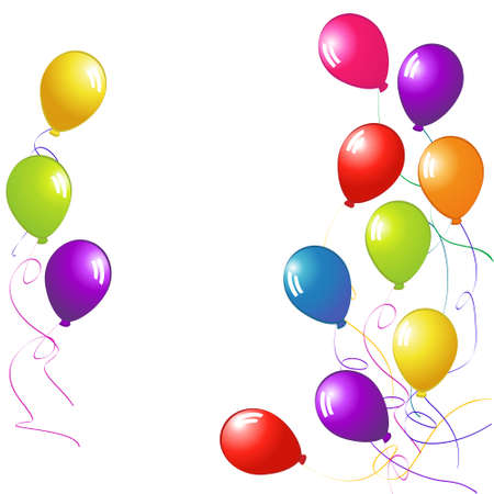 copy space: Colourful Party Balloons with Copy Space
