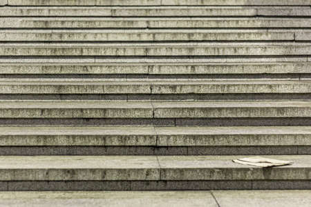 Steps of stairs in the city. Transition tile.