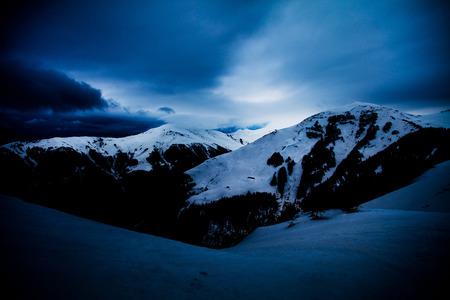 Dark winter mood in the mountains Banco de Imagens