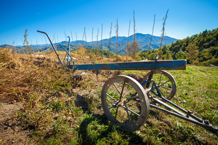 Old plow in mountain area 写真素材