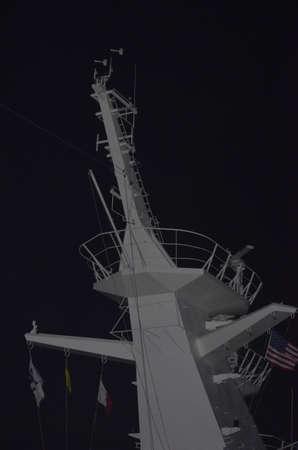 Radar mast on cruise ship
