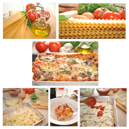 Lasagna Collage  photo