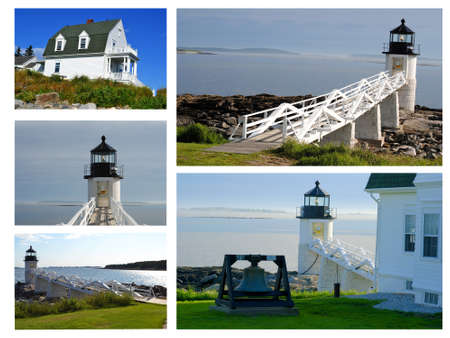 Collage of Marshall Point Lighthouse  photo