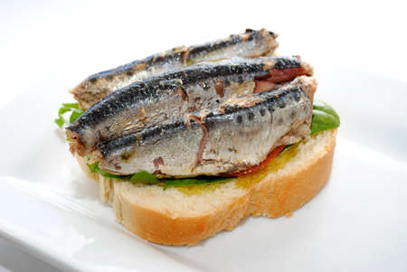 sardines: 3 Sardines on Bread