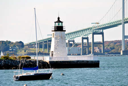 Goat Island Lighthouse, Rhode Island, USA