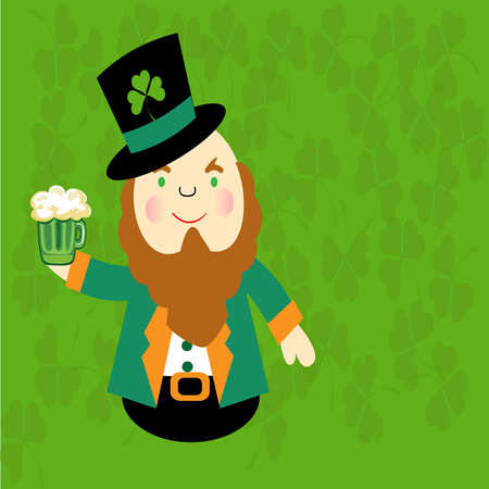leprechaun's hat: St Patrick s Day-Irish Cartoon Man