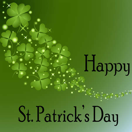 St Patrick s Day-Floating Shamrocks photo