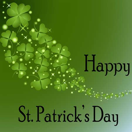 st  patrick   s: St Patrick s Day-Floating Shamrocks
